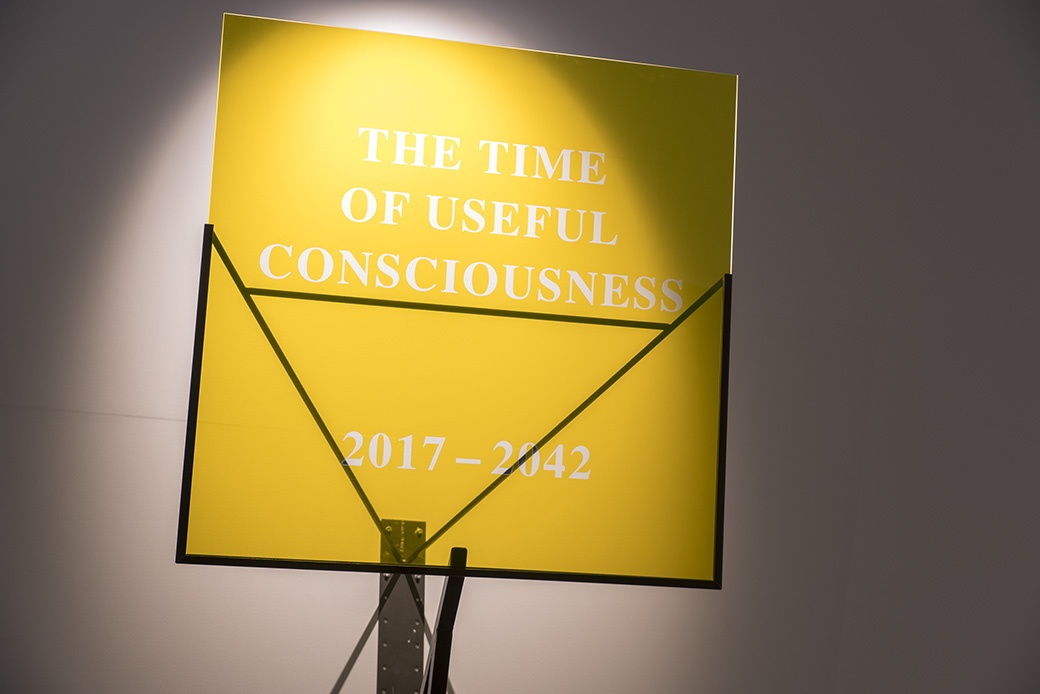Amy Howden-Chapman, The Time of Useful Consciousness (2017-2042), 2017. INSTALLATION VIEW. COURTESY OF THE DOWSE ART MUSEUM. PHOTO: JOHN LAKE