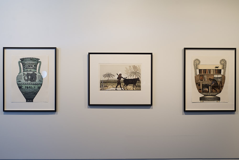 Installation view of work by Marian Macguire. Photographer John Lake