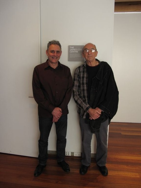 President of The Friends of The Dowse, Bruce Sedcole, with Bill Culbert