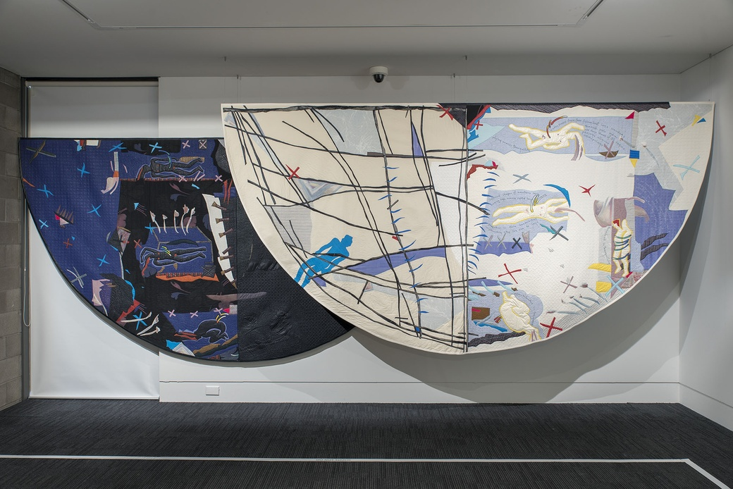 MALCOLM HARRISON, ECLIPSE. INSTALLATION VIEW. COLLECTION OF THE DOWSE ART MUSEUM, GIFTED BY THE ARTIST 1993. PHOTOGRAPHER: JOHN LAKE.