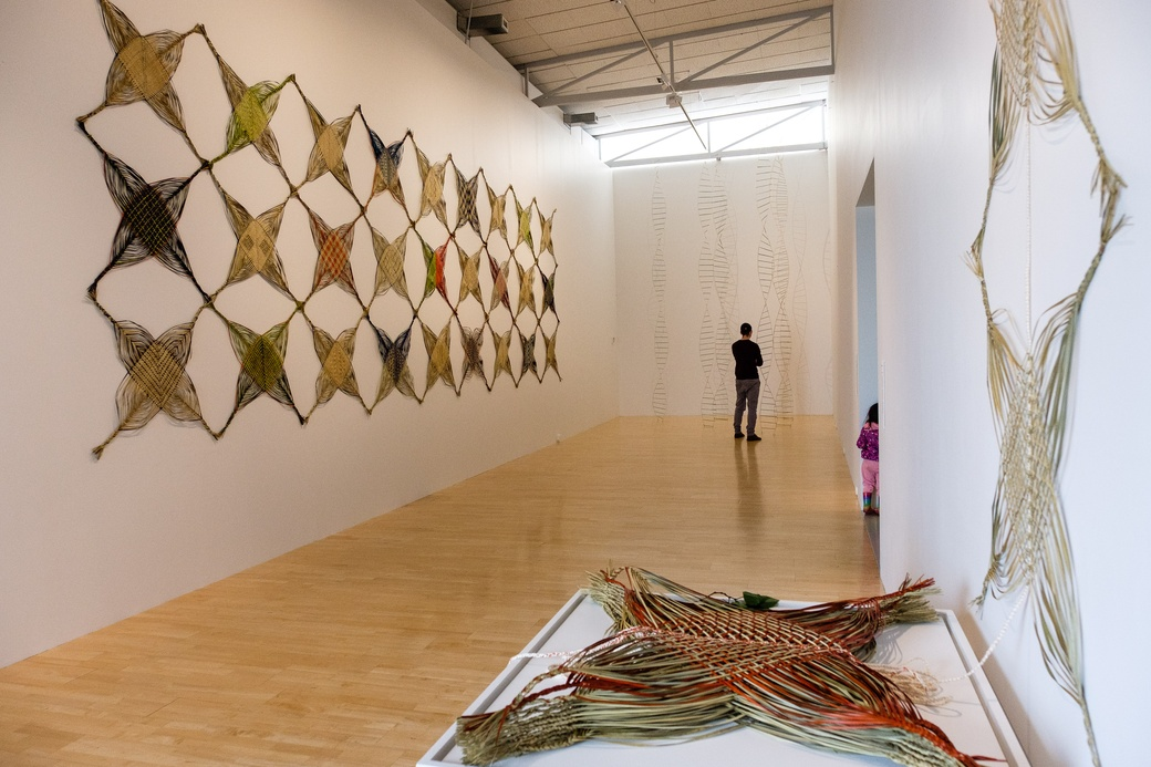 MAUREEN LANDER: FLAT-PACK WHAKAPAPA, INSTALLATION VIEW. COURTESY OF THE DOWSE ART MUSEUM. PHOTO MARK TANTRUM