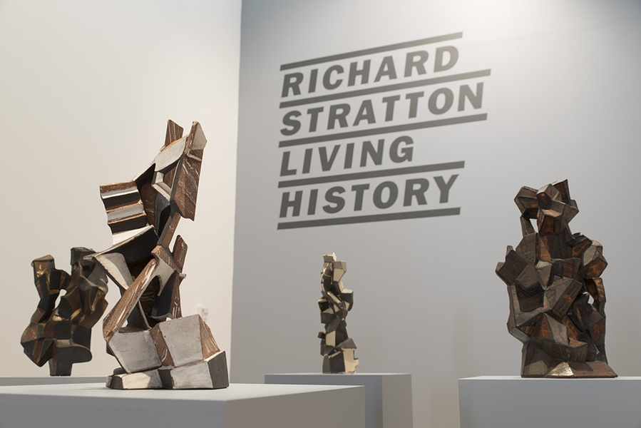 RICHARD STRATTON: LIVING HISTORY, INSTALLATION VIEW. COURTESY OF THE DOWSE ART MUSEUM. PHOTO: JOHN LAKE