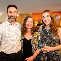 Harriet McFettridge and whānau at the opening of Gavin Hipkins: The Domain
