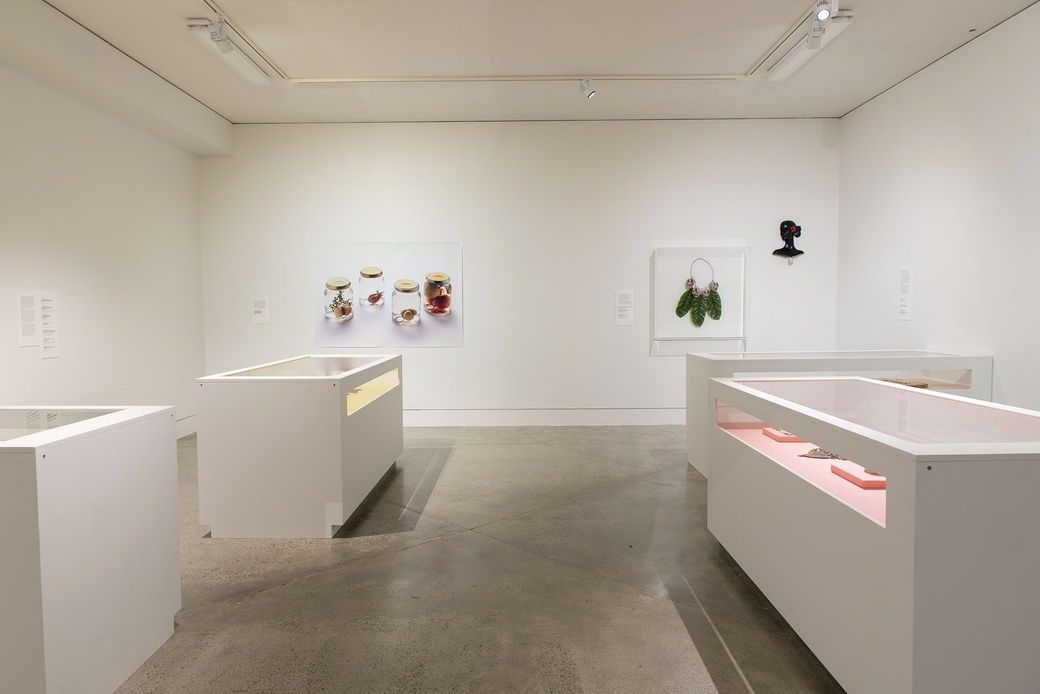 Installation view 'Place and Belonging' with Hilde De Decker, Luisa Tora , Molly Rangiwai-McHale and Sofia Tekela-Smith