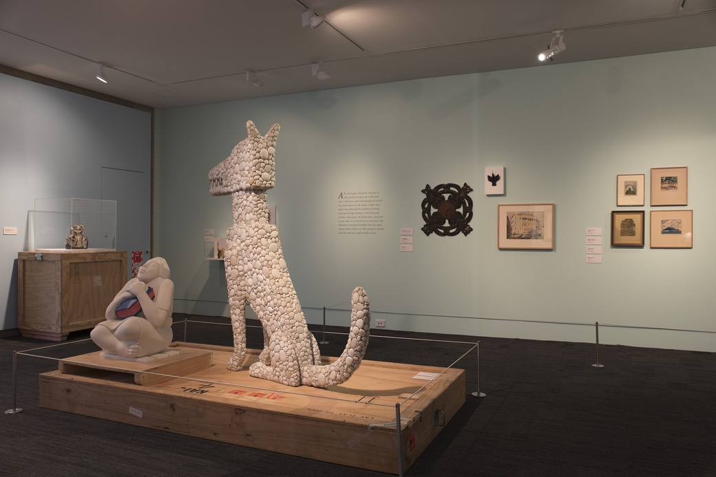 ONCE, INSTALLATION VIEW. COURTESY OF THE DOWSE ART MUSEUM. PHOTO JOHN LAKE