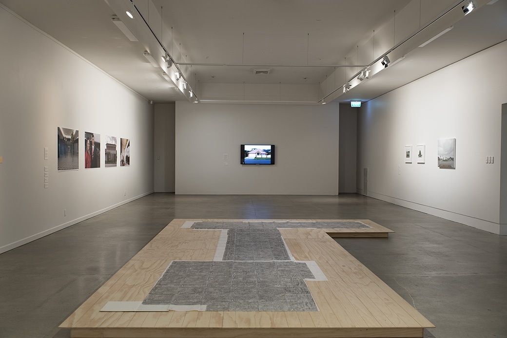 Installation view including work by Gabrielle Amodeo, John Lake, Murray Hewitt and Ruth Cleland. Photo John Lake