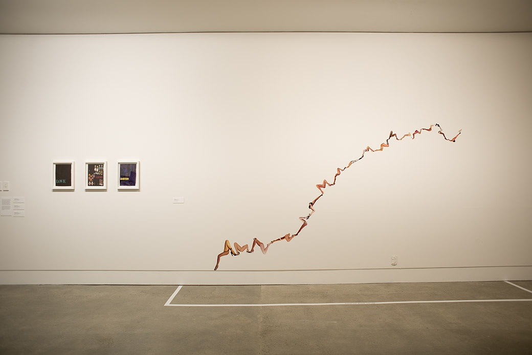 Installation view. Photographer: John Lake. Work by Wayne Youle & Ans Westra, and J.K. Russ.