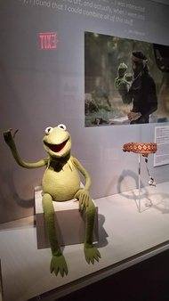 Old friends Kermit and Jim Hensen at the Museum of Moving Image