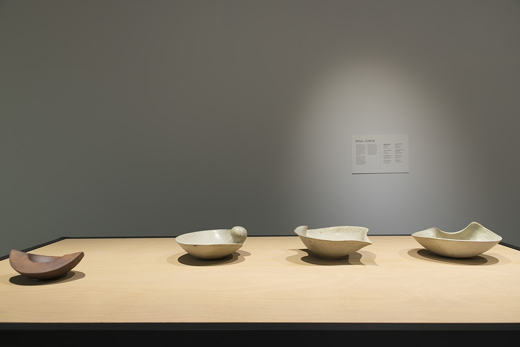 James Greig: Defying Gravity, Bowl Forms c1970-76, installation View. Courtesy of The Dowse Art Museum. Photo John Lake
