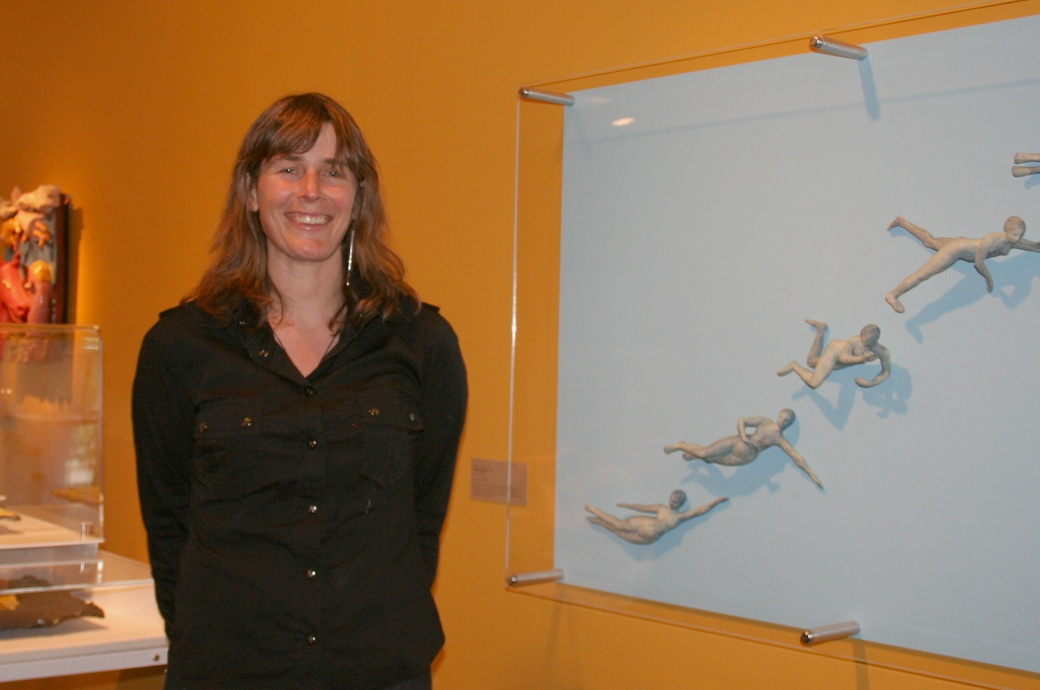 Jaqui Knowles, 2007 Blumhardt Curatorial Intern with her show The Magic of Mud