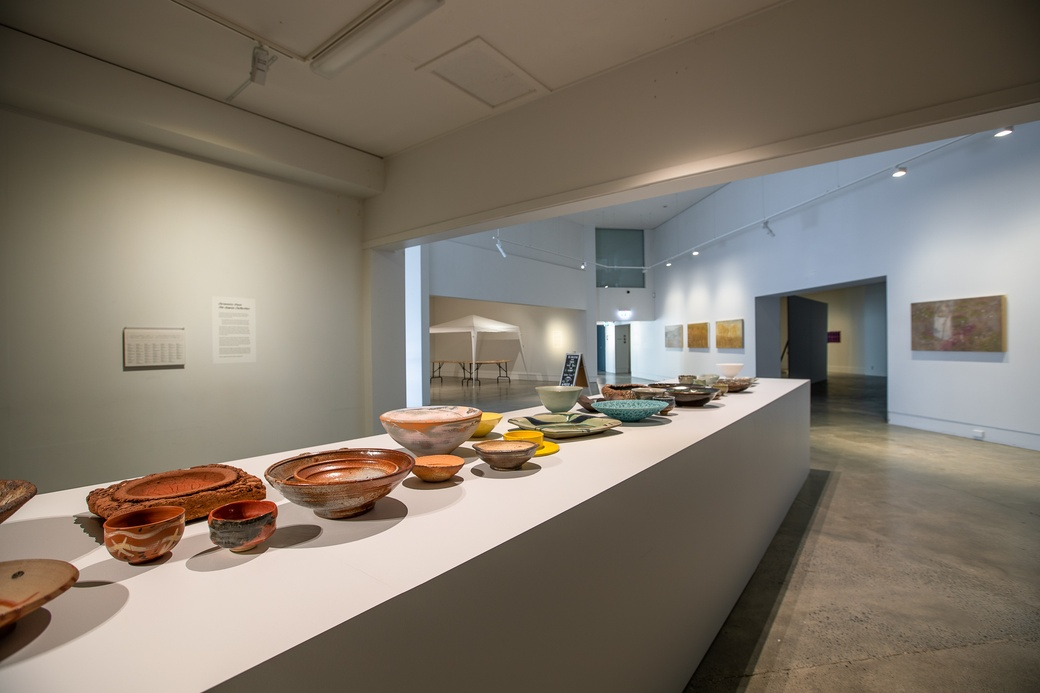 Ceramics from The Dowse Collection, 2020 (install view) at The Dowse 2020. Photo by Ted Whitaker.