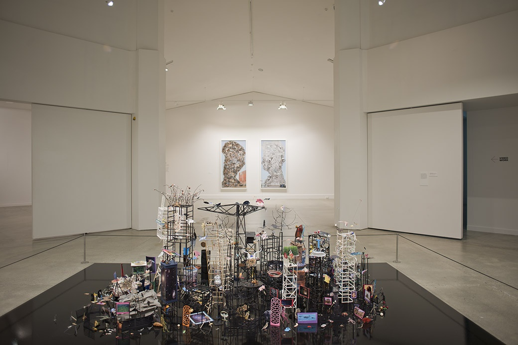 Installation view. Photographer: John Lake. Work by Peter Madden and Jae Hoon Lee.