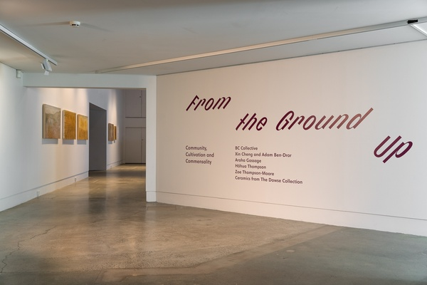 From the Ground Up 2020 (install view) at The Dowse. Photo by Ted Whittaker