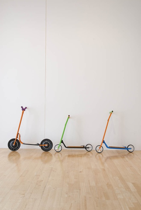 Scott's scooters. Installation shot by John Lake
