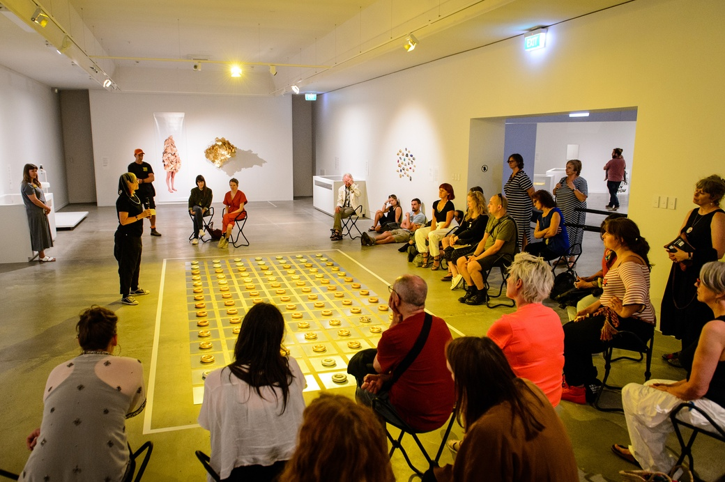 Su san Cohn floor talk about her work 'Way Past Real'