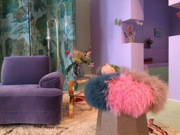 Peter Pilotto pop-up townhouse in the Brompton Design District, with furniture by Martino Gamper