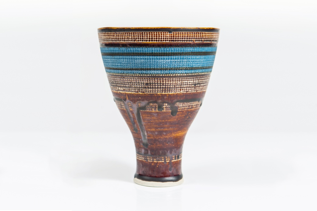 Lucie Rie, Vase, c. 1950s. Collection of The Dowse Art Museum. Gifted by Olga & Hans Frankl and the Rose family, 1997