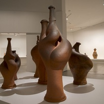 Installation view of 'His Own Steam' at The Dowse in 2013. Photographer: John Lake.