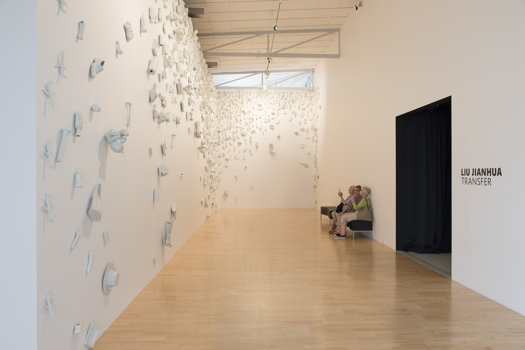 Visitors enjoying Regular Fragile at The Dowse, 2016. Photographer John Lake