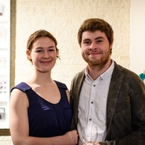 Me and my wonderful girlfriend at my first exhibition opening
