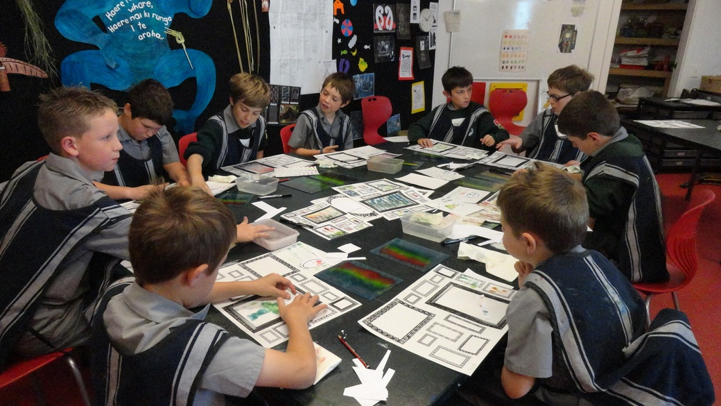 A group of Sts. Peter and Paul students in our creative workshop