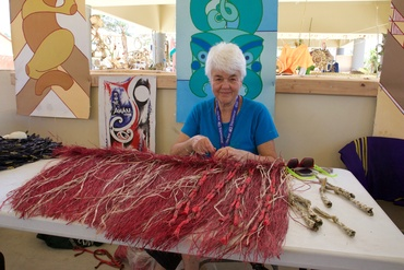 Maureen Lander at the Pacific Arts Festival, Guam, Courtesey of the Artist