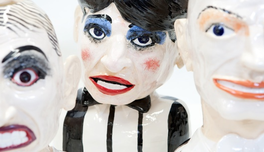 Paul Rayner, Split Enz (detail), 2008. Glazed ceramics. Collection of The Dowse Art Museum, purchased 2008.