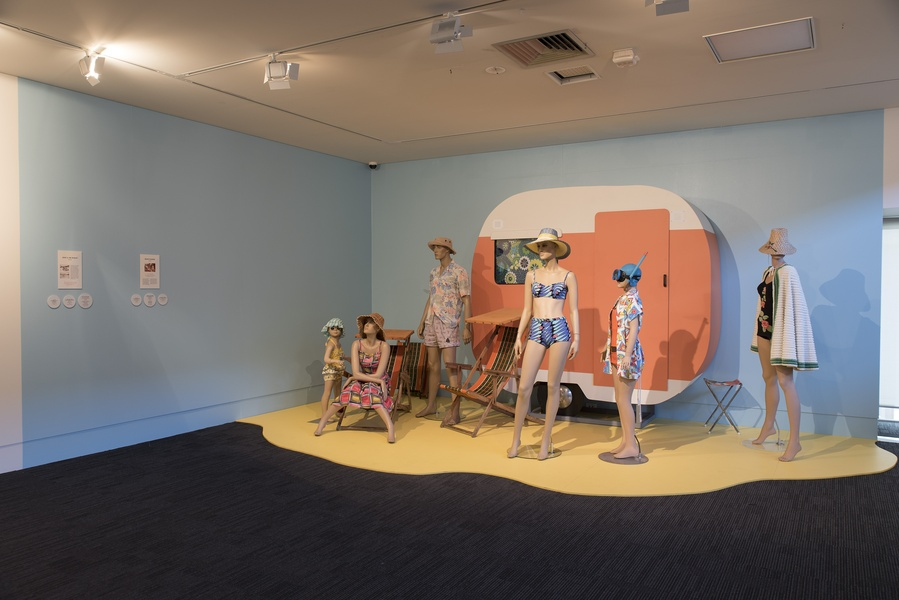 At the Beach: 100 Years of Summer Fashion in New Zealand. INSTALLATION VIEW. Photo: John Lake