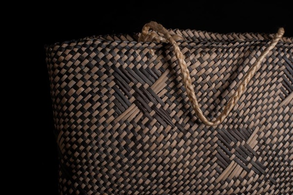 Matekino Lawless, Kete Whakairo (detail), 1988. Photo: Anne Shirley.