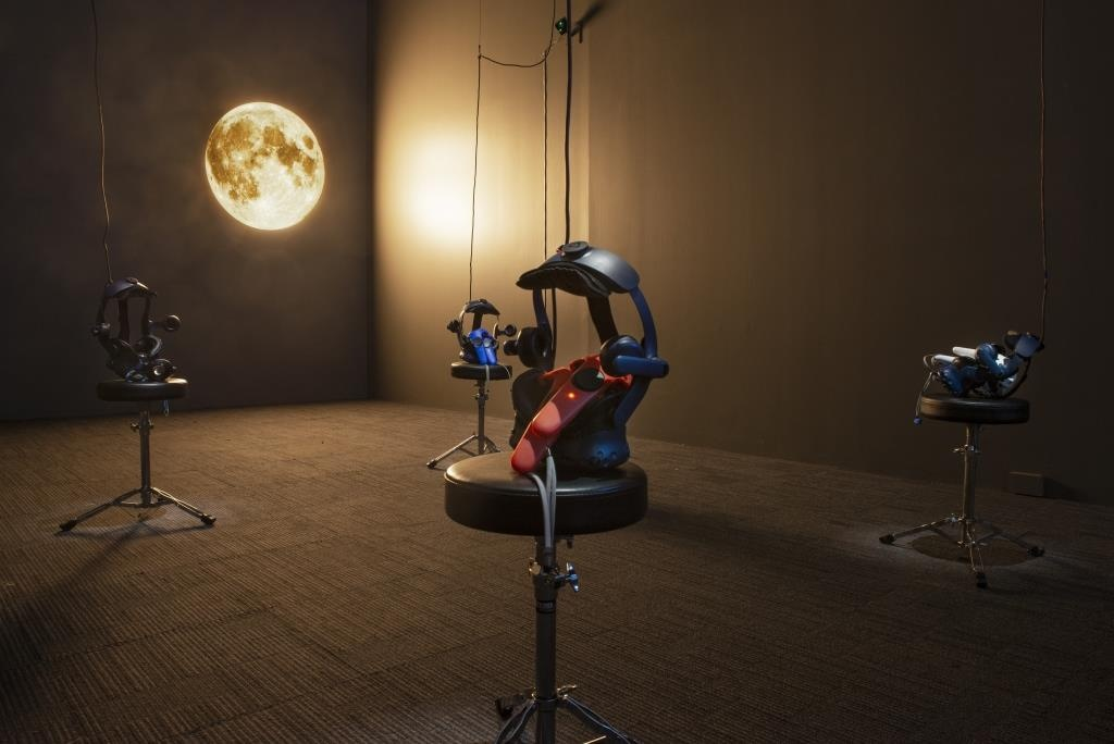 Laurie Anderson and Hsin-Chien Huang, To The Moon (install view), 2020. The Dowse Art Museum. Image: Shaun Matthews