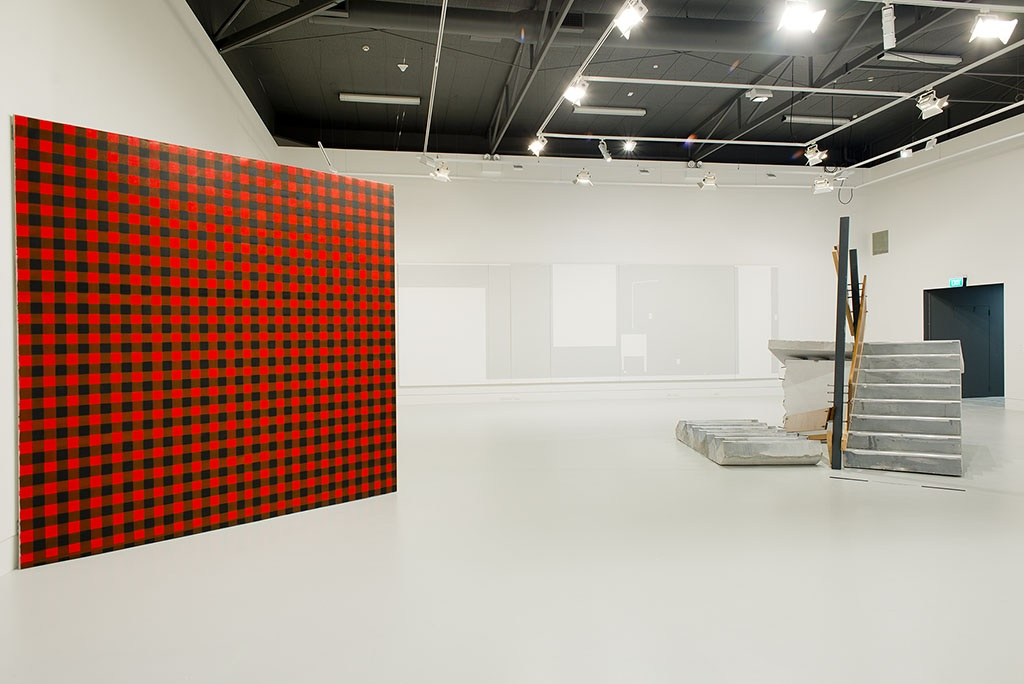 Installation view with works by Andrew Barber and Fiona Connor. Photo: John Lake