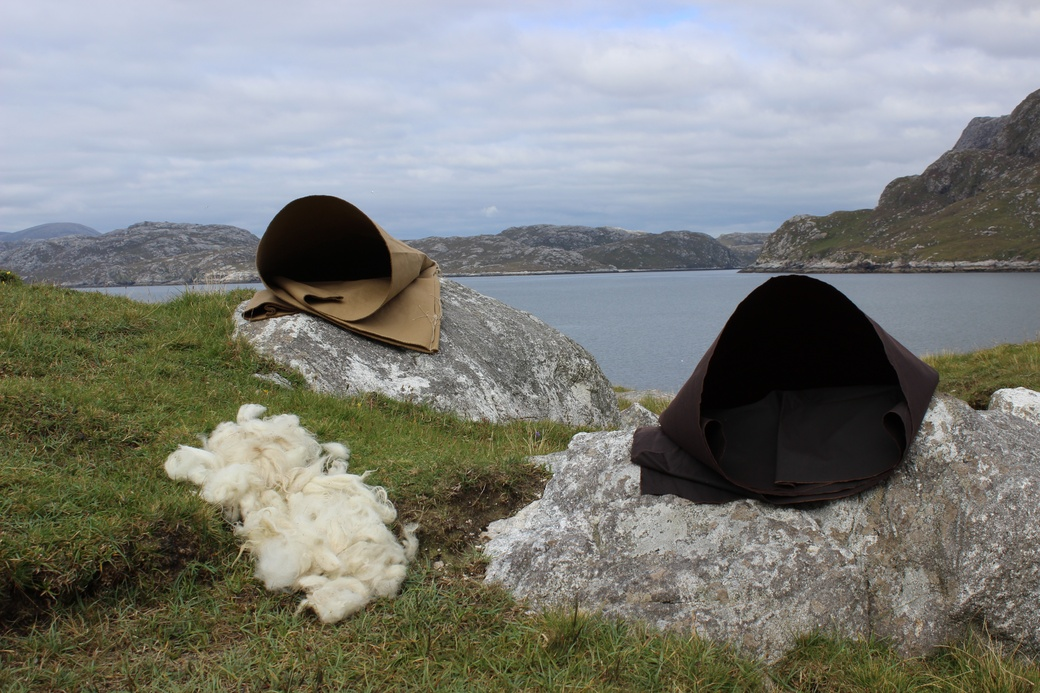 Emma Fitts, Sensory Ground at Isle of Harris, 2016.  Fabric installation. Courtesy of the artist