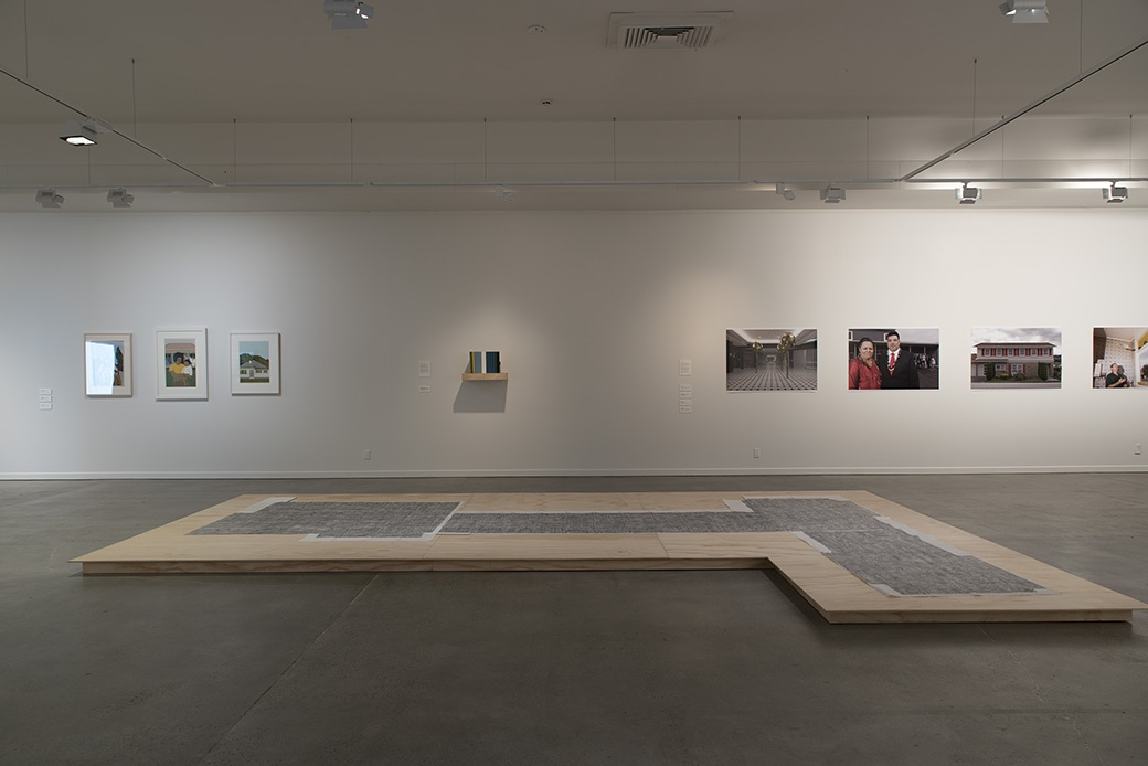 Installation view including work by Gabrielle Amodeo, Robin White and John Lake. Photo John Lake