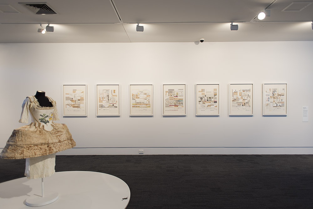 Installation view of works by Jo Torr (front) and Sara Lee (back). Photographer John Lake