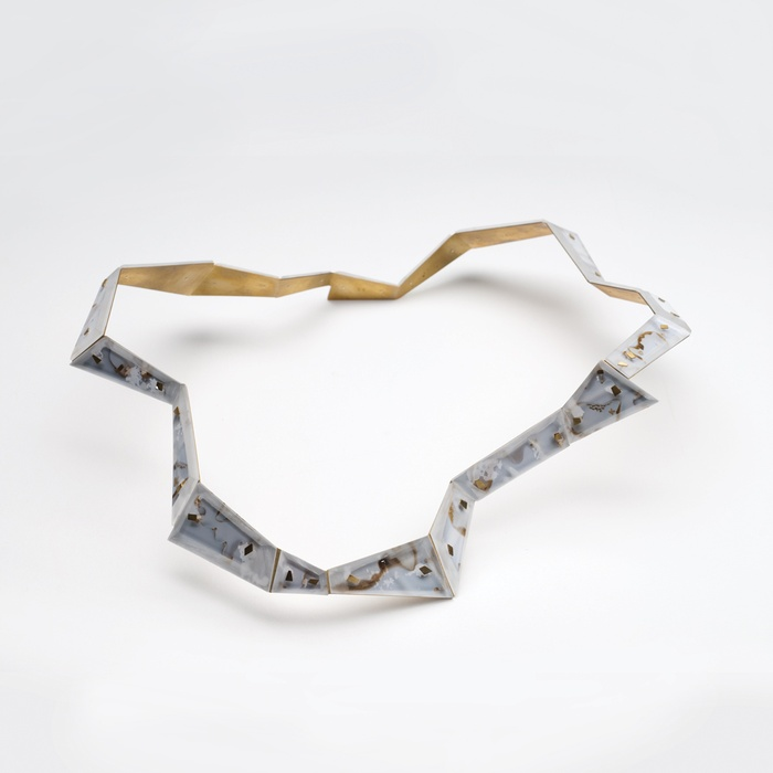 Octavia Cool, Shard of Royal Gilded Ectoplasm Collar, 2011. Courtesy of Anna Miles Gallery, Auckland