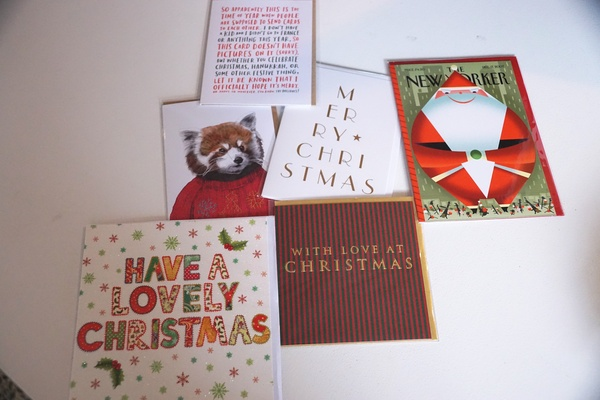 Assorted Christmas cards, $5-7